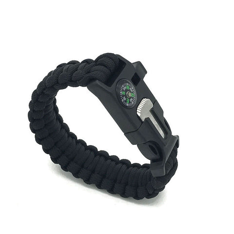 Paracord Survival Bracelet With Fire Starter And Compass - justafive.com