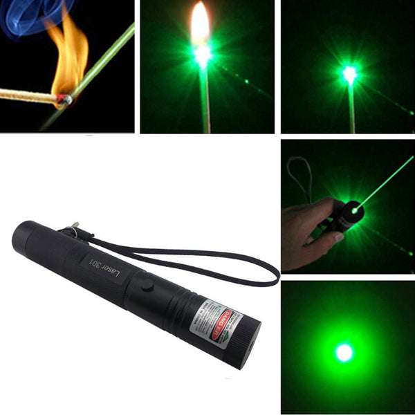 (Military Grade) High Power Adjustable Zoomable Focus Burning Green Laser Pointer Pen - justafive.com