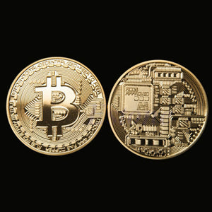 Gold Plated Bitcoin Coin Collectible BitCoin Art Collection Gift Physical