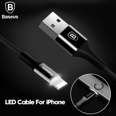Baseus LED Charger Cable For iPhone and iPad - justafive.com