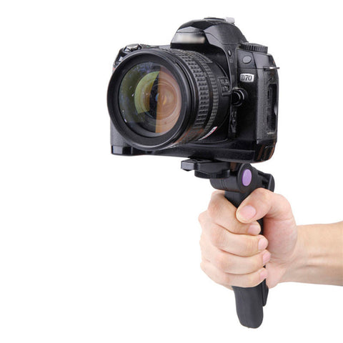 High Quality Portable 2in1 Hand Grip Tripod Stand Holder for Digital Camera Mini DV - justafive.com