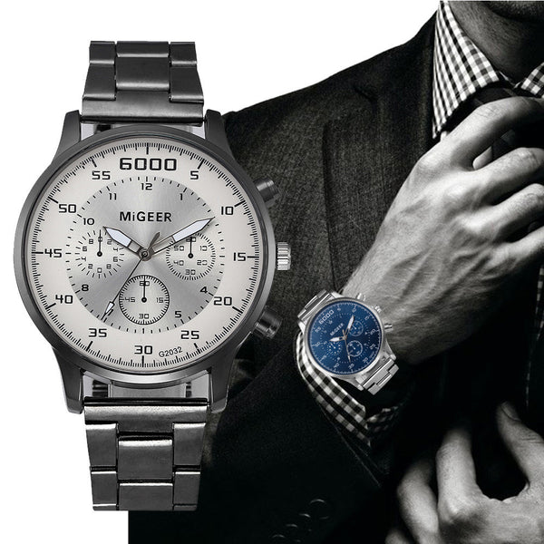 Mens Analog Fashion Watch In Stainless Steel - justafive.com