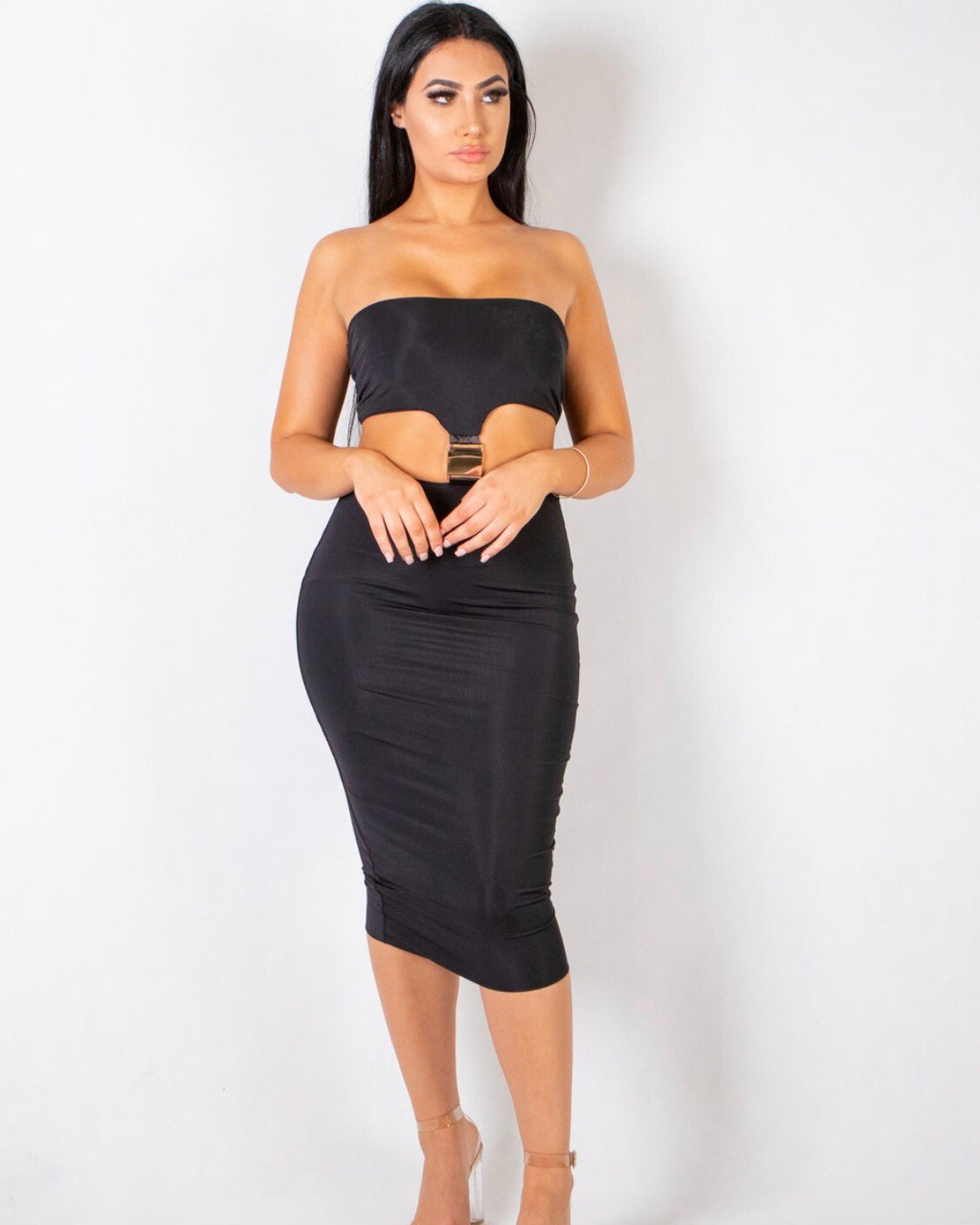 Monáe Buckle Dress - Black