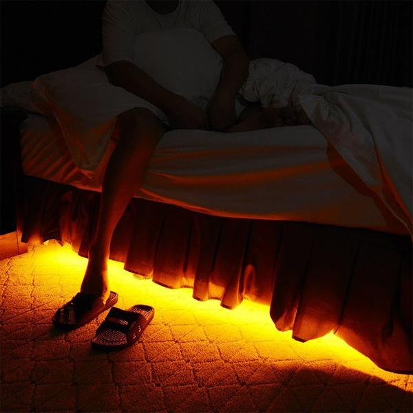 Smart Under-bed Strip Night Light - With Sensor And Timer Adjustment