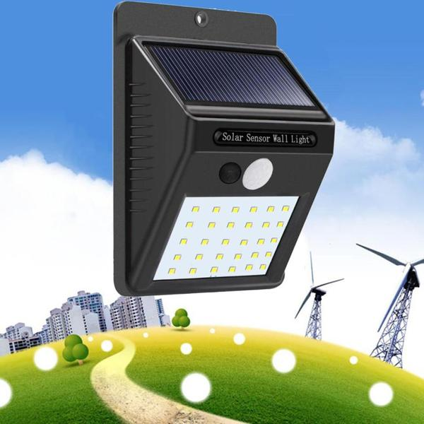 Smart PIR Motion Senser Solar Wall Light - Outdoor waterproof