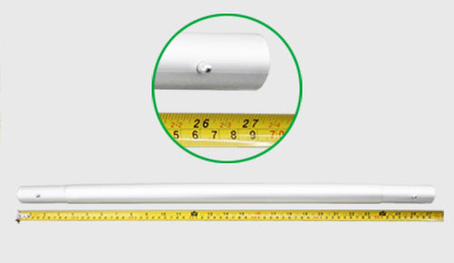 10 ft straight pillowcase tube display longest tube length