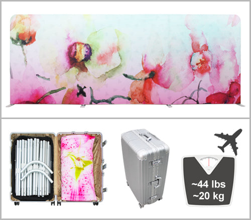 20 foot tension fabric display checked in luggage