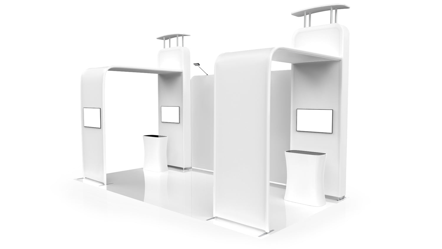 20x10 trade show booth 3D model right view