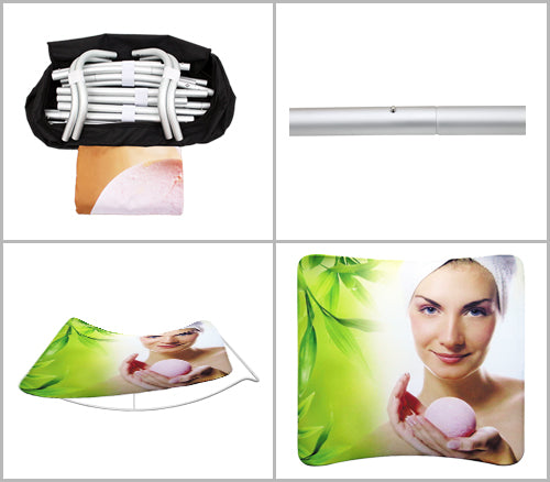 8 ft curved EZ Zip tube and pillowcase display installation guide