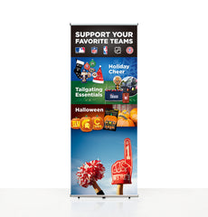 Awe-7 fabric banner with replaceable graphic print