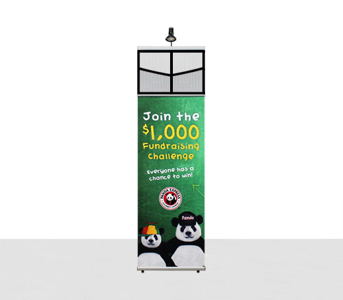 Combo Zero2Sixty2x1 Trade Show Literature Rack Shown with light