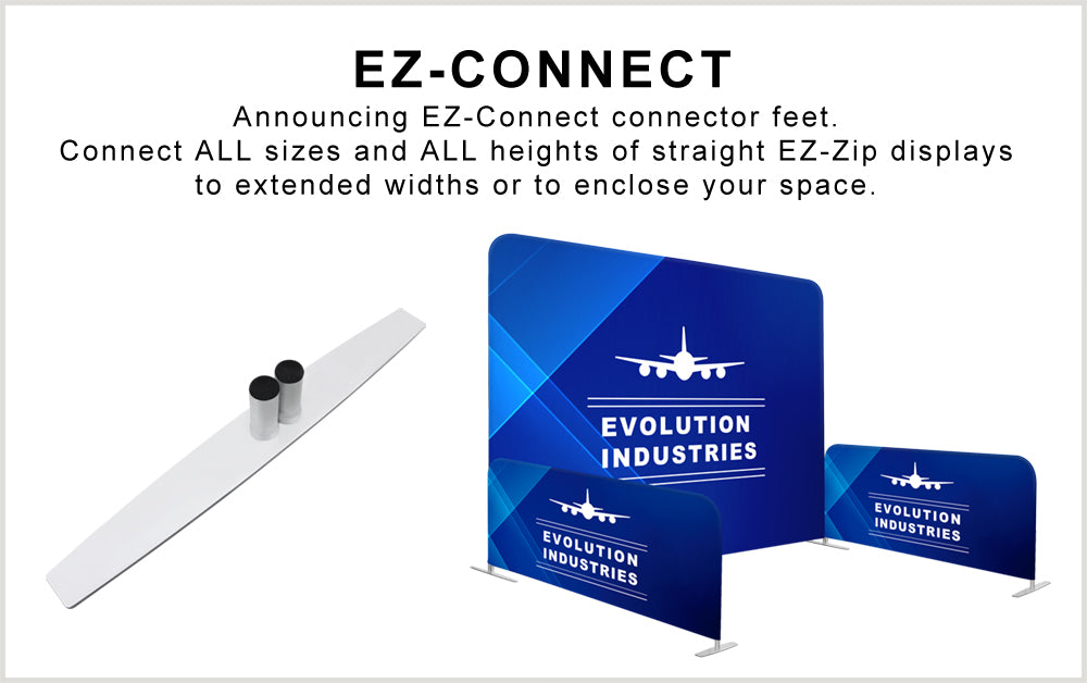 EZ-Connect modular tension fabric display foot