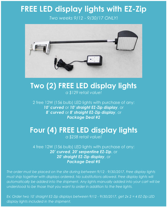 Free trade show display lights promotion
