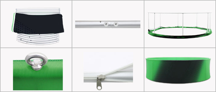 How to assemble hanging banners