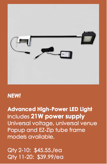 NEW! Higher power LED display lights!