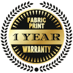 1 year limited warranty on fabric prints