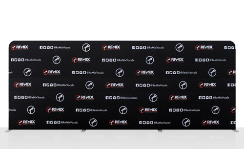Step and repeat logo backdrop