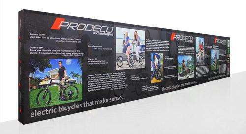 Brilliant 40 foot fabric popup display with endcaps