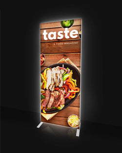 Vibrant LED Backlit 5 Foot Banner
