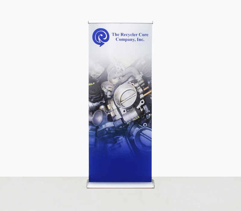 Awe-6 (Freedom) Double Sided Retractable, Banner with 2 Prints