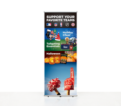 Super-tall 15 ft wide x 10 ft high fabric popup display