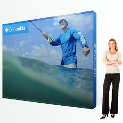 Brilliant 10 foot fabric popup display with endcaps