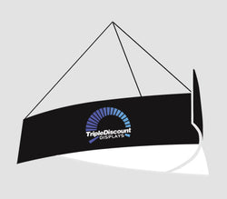 TAPERED TRIANGULAR HANGING BANNER