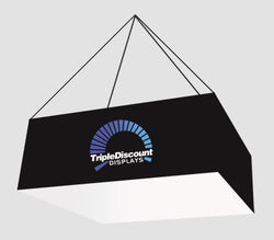 Brilliant 8 foot fabric popup display with endcaps