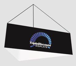 Super-tall 10 ft wide x 10 ft high fabric popup display