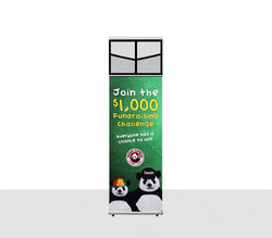 Brilliant 15 foot fabric popup display with endcaps