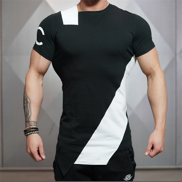 c1062c6fa60b New Gyms Body engineers T-shirt men Tights Fitness Quick Dry Casual Stretch  Top Tee Shirt Fitness Plus Size