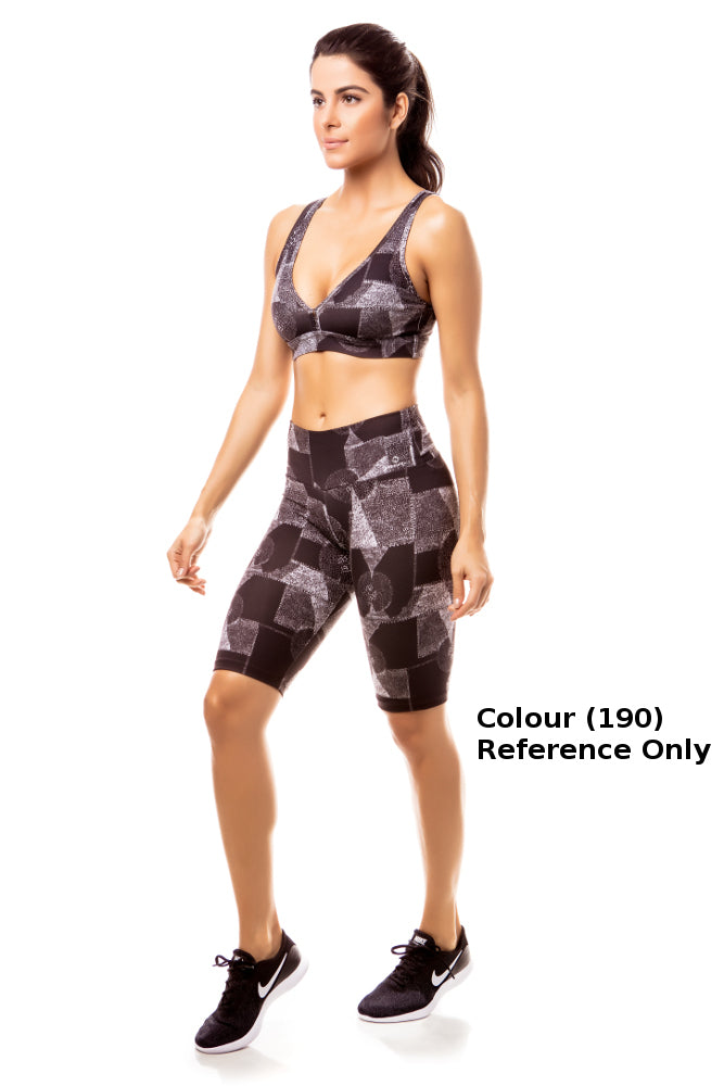 Crop Legging Printed Suplex