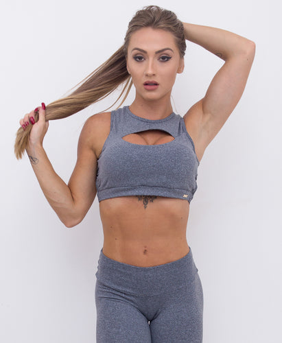 Cropped Top Braided Grey