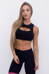 Cropped Top Braided Black - Musa Spirit