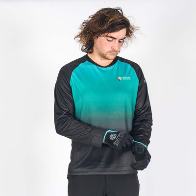 EWS Stage Riding Jersey - Mens Teal Fade