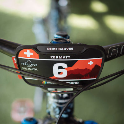 Race Labs Enduro World Series Reusable and Recycled Race Plate for Mountain Bike Racing including medical card. A new innovation in MTB Number Plates for Enduro, eMTB, XC and DH