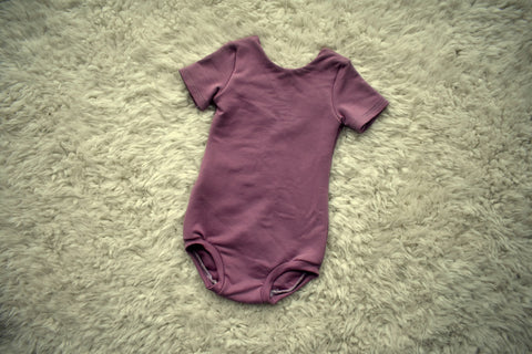 Little Low back Leotard - Mauve