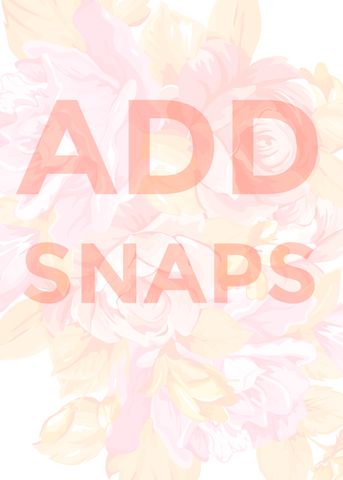 add snaps to rompers