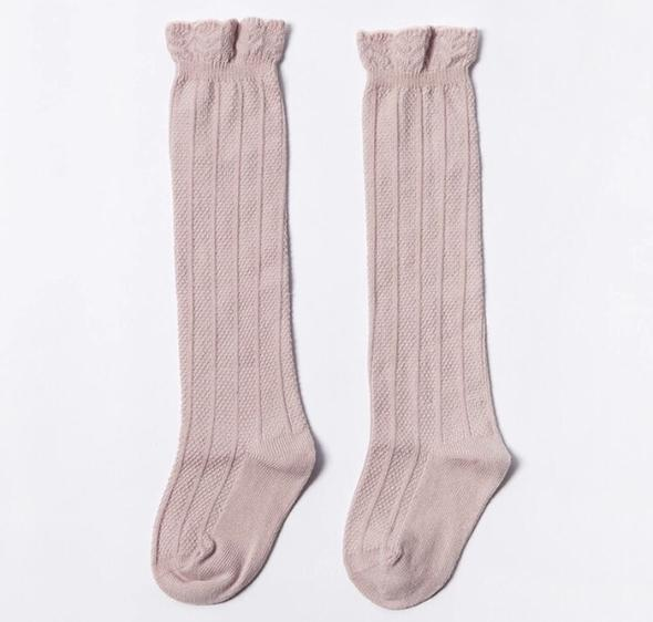 West Coast Moccs- Knee high socks- Blush