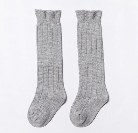 West Coast Moccs- Knee high socks- Grey