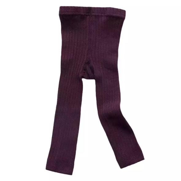 West Coast Moccs Footless tights- Plum