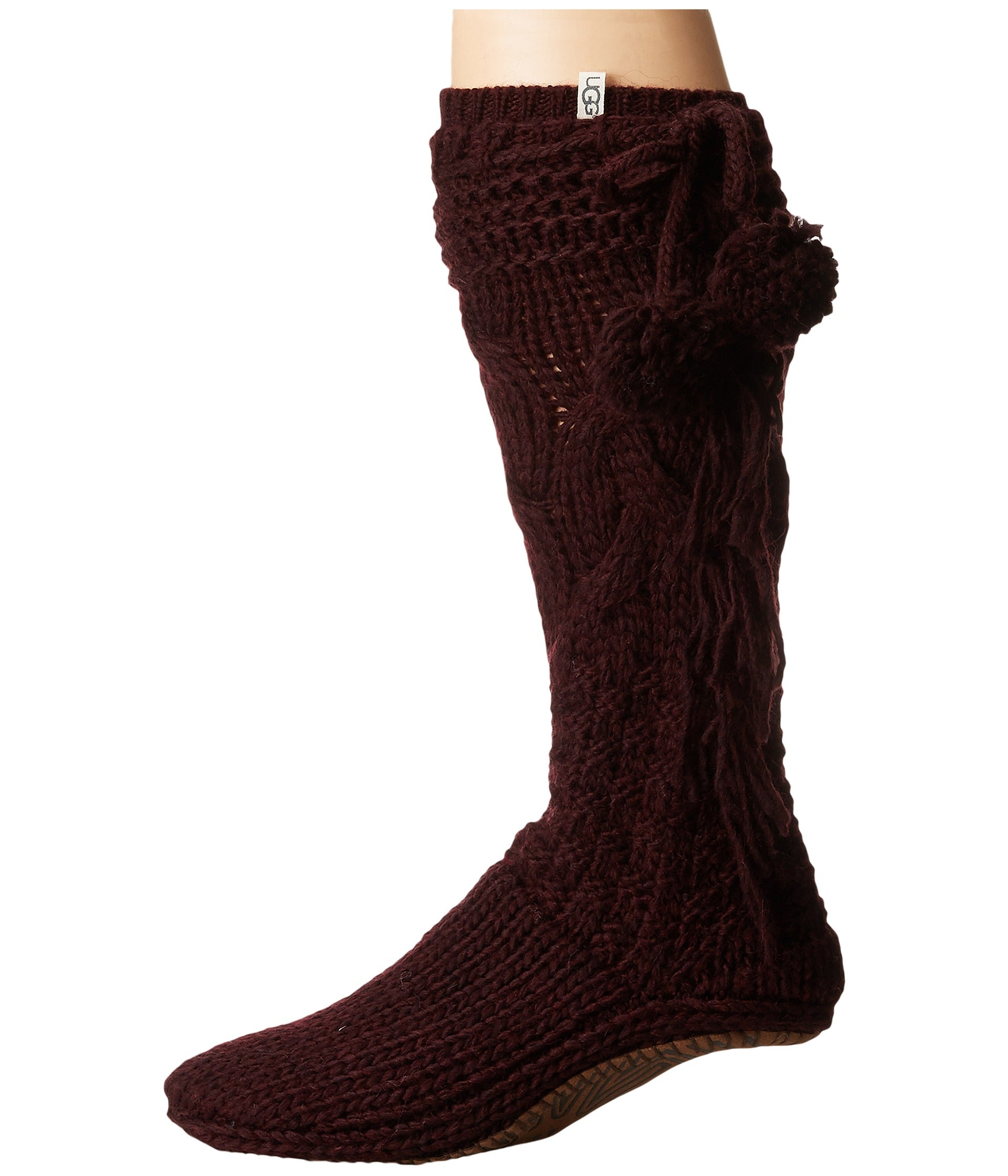 UGG® Cozy Slipper Sock - Port Heather