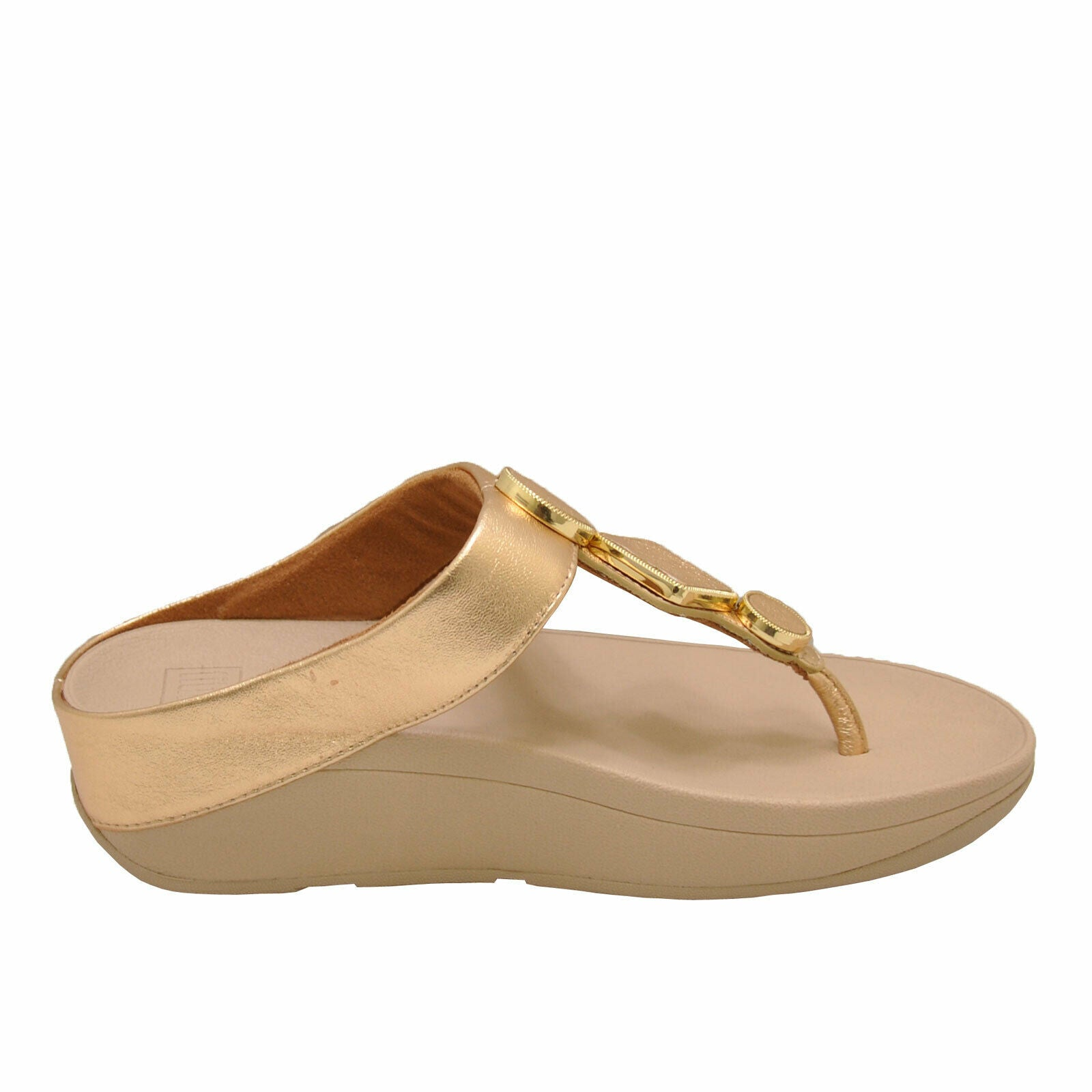 FitFlop Leia Toe-Thong BE4-796 (Vintage Gold)