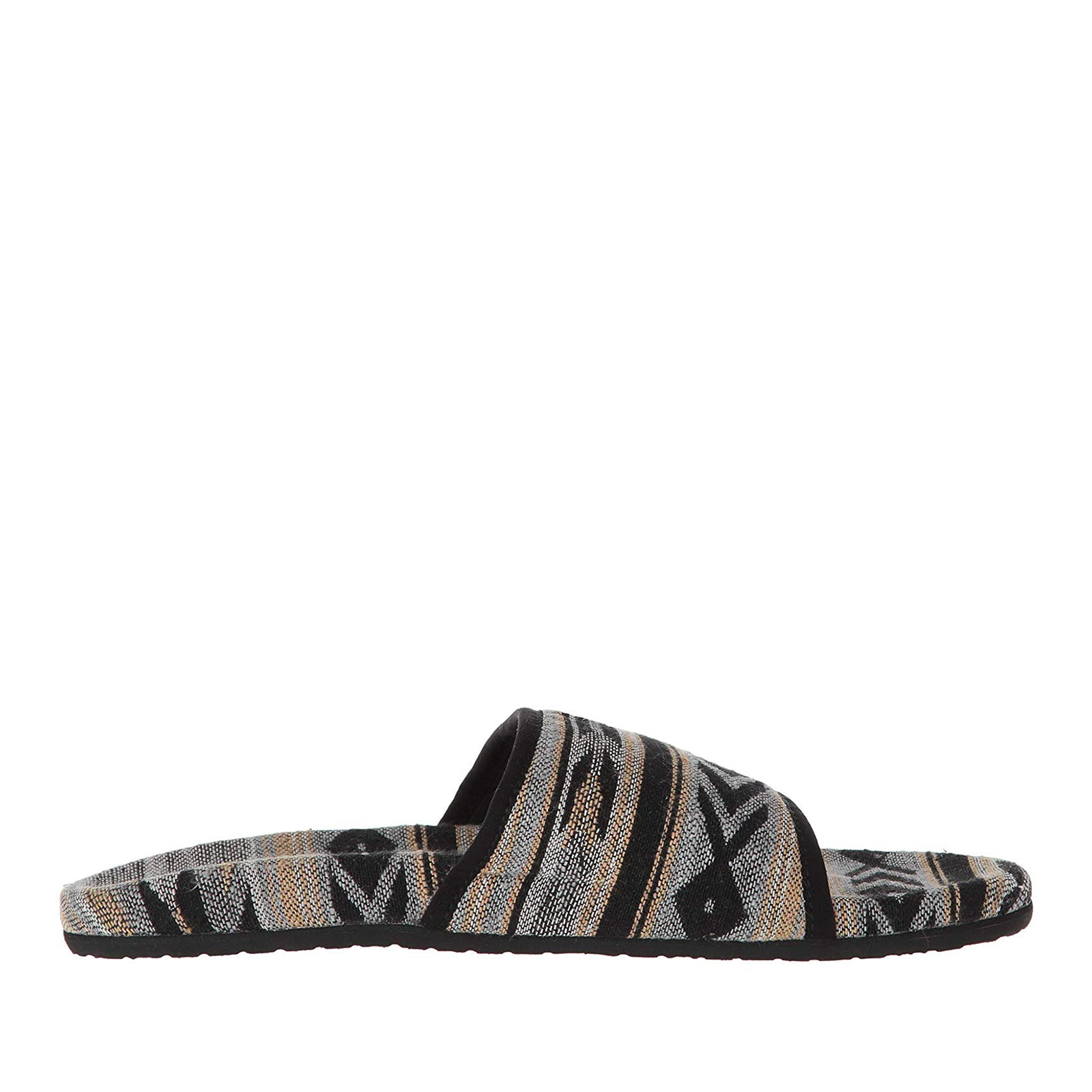 Sanuk Furreal Slide-Black Navajo