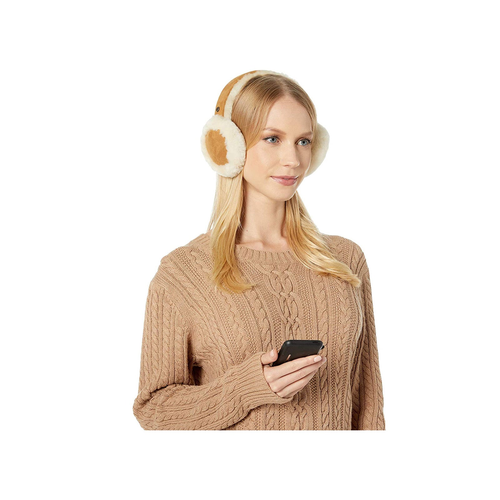 UGG® Sheepskin Bluetooth Earmuffs- Chestnut