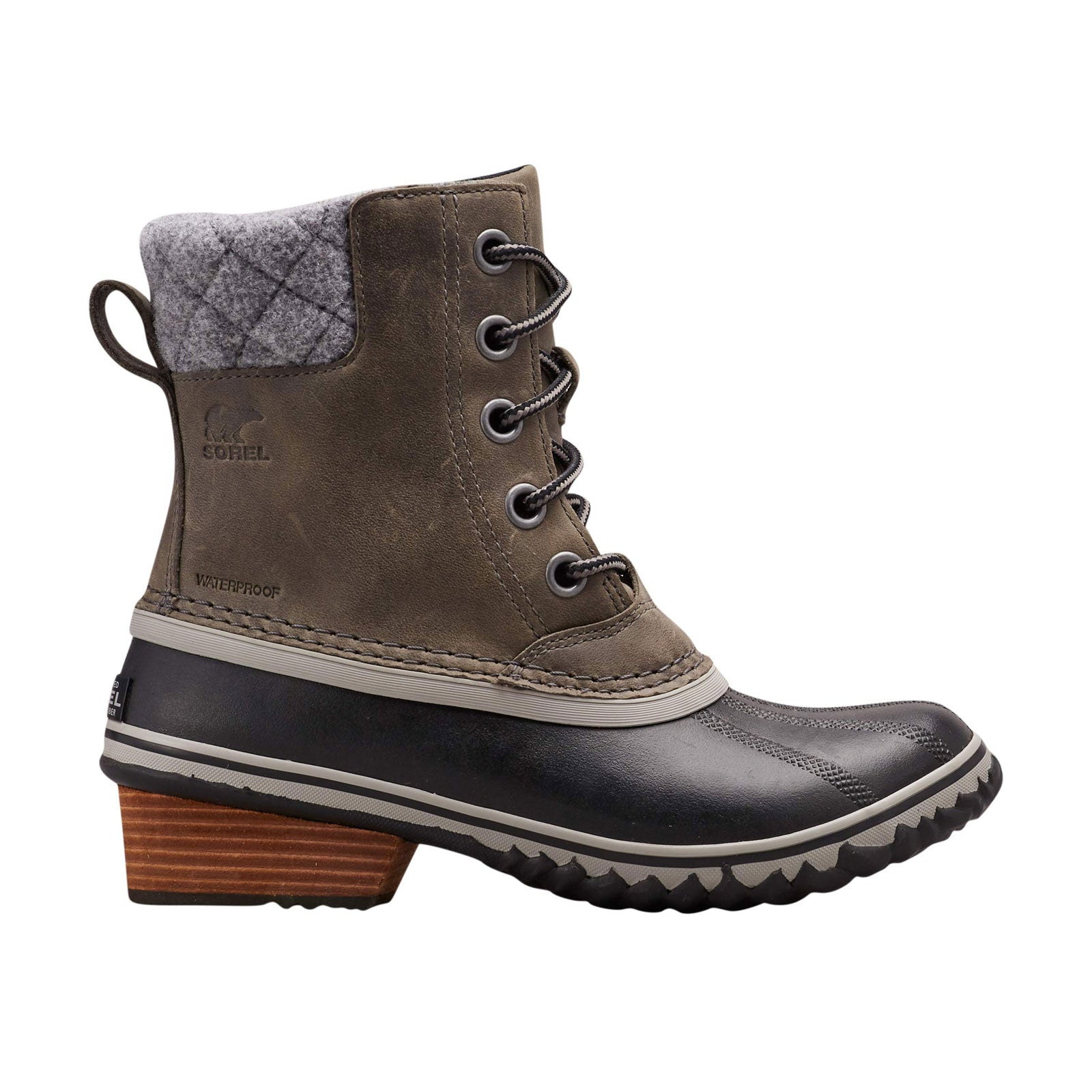 Sorel Slimpack Lace II-Quarry/Black