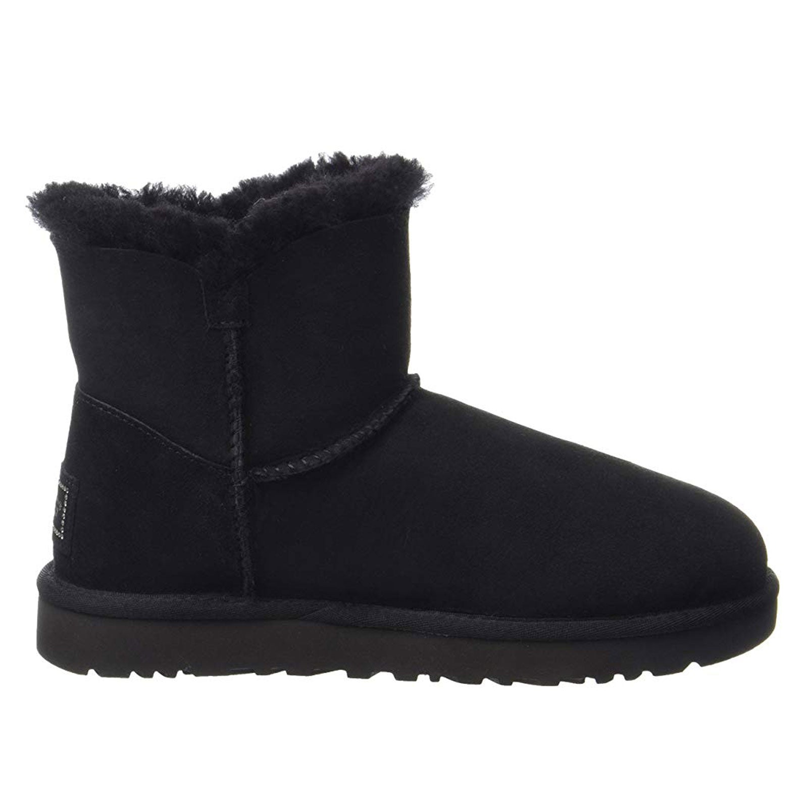 UGG Mini Bailey Button Bling-Black