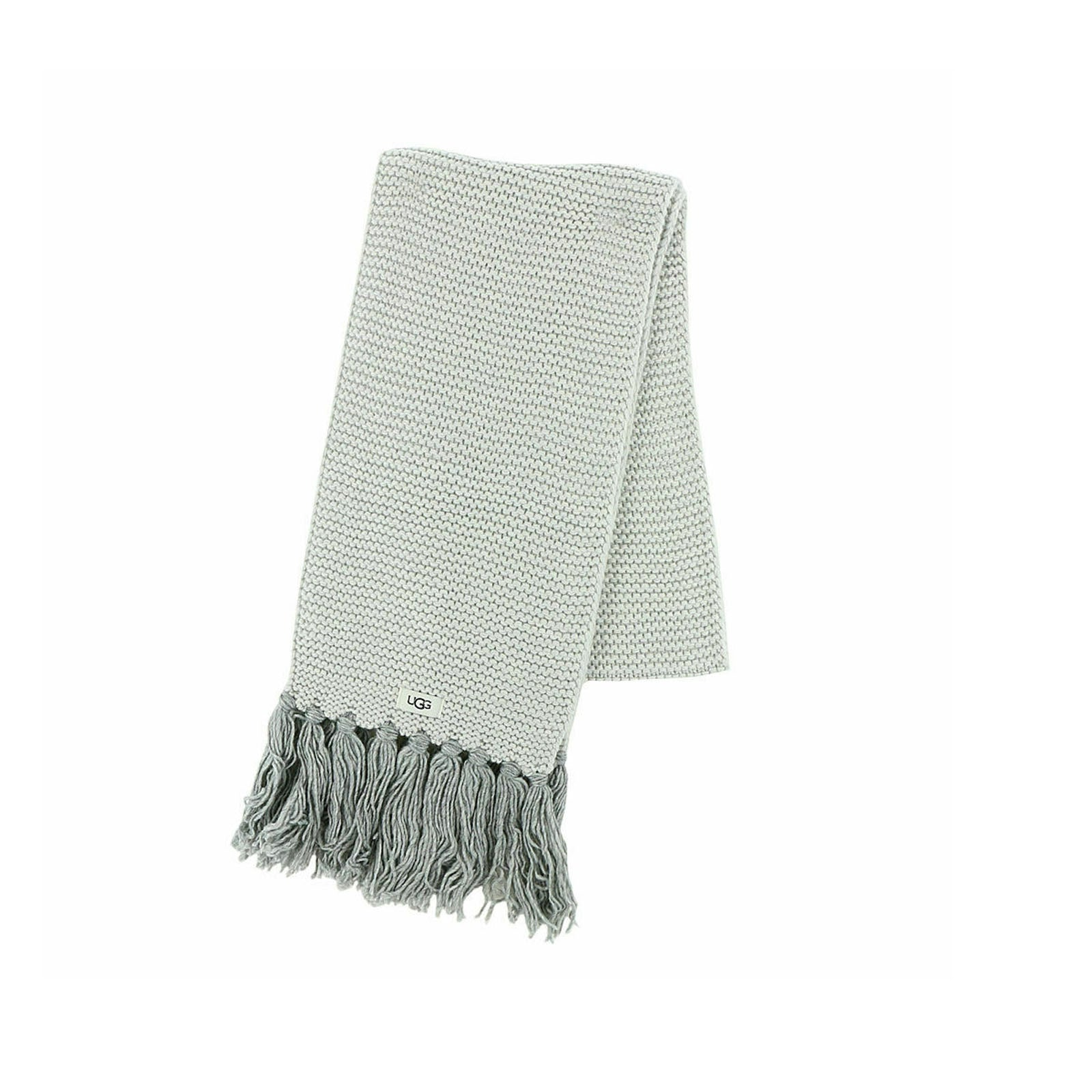 UGG Chunky Knit Scarf-Light Grey