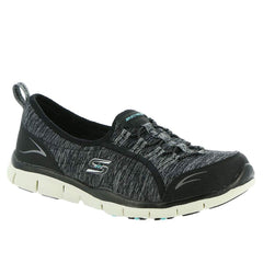 Skechers Wide Fit Gratis-Her Stroll 104082W (Black / Aqua)