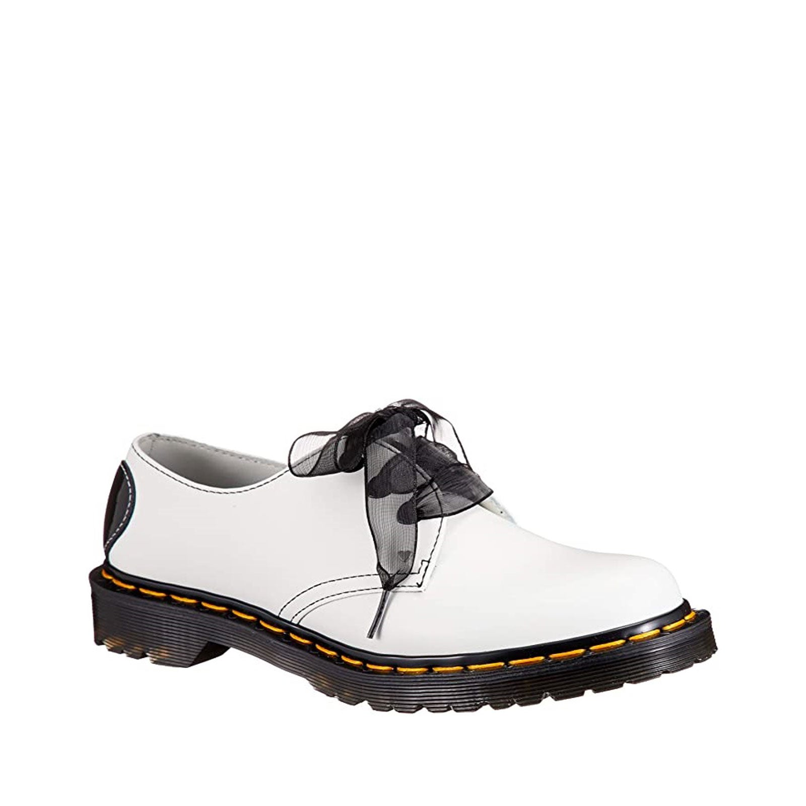 Dr. Martens 1461 Hearts 26682100 (White / Black Smooth / Patent Lamper)